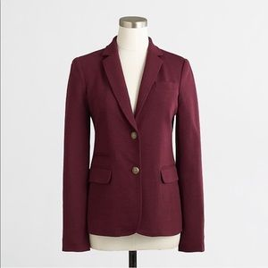 J. Crew Purple Stretch Knit Blazer